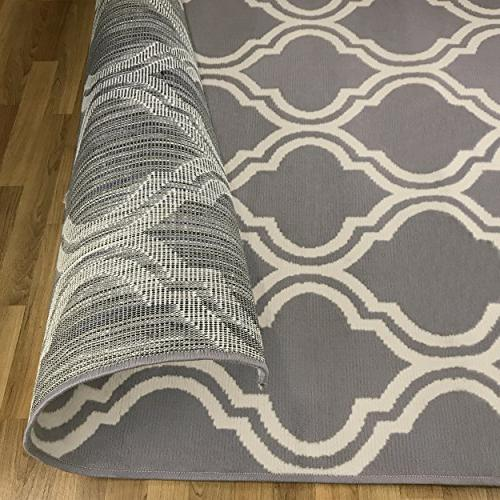 Superior Double Trellis Collection Area with and Beautiful Woven Structure, Contemporary Rug - 5' 8'