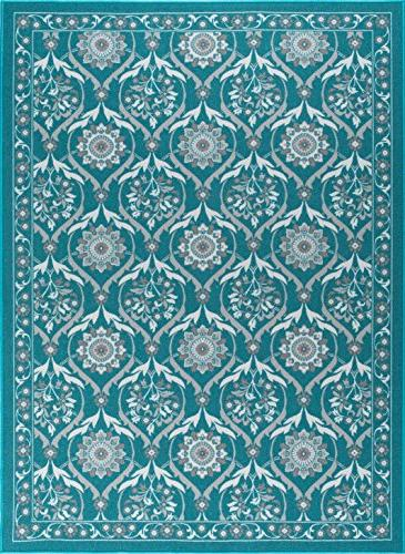 eliza transitional floral teal non