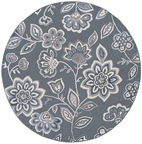 emmalyn transitional floral gray round
