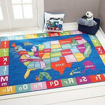 Home Dynamix Eric Carle Elementary USA Map