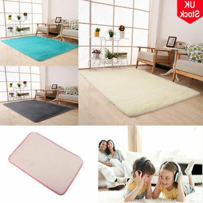 Large Rectangle Fluffy Anti-Skid Area Rug Dining Mat