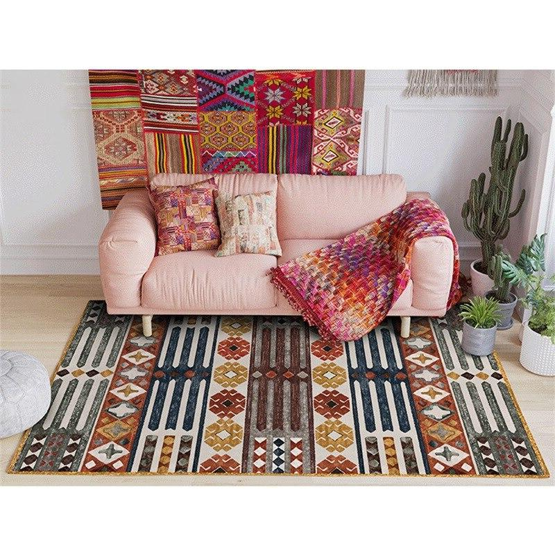 <font><b>Vintage</b></font> Geometric For Bedroom Table <font><b>Area</b></font> Delicate Floor Mats