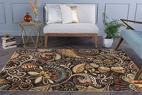 Universal Rugs Floral Brown Area Rug, x