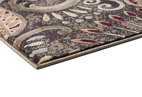 Universal Rugs Giselle Transitional Floral Brown Rug,