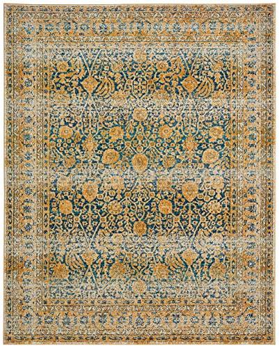 Rivet Gold and Blue Royalty Rug, 10',