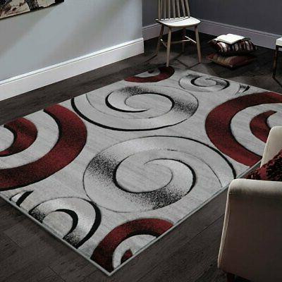 Allstar Rugs Hand-Carved Grey and White Rectangular Accent A