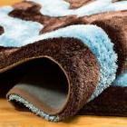 AllStar Rugs Hand-Tufted Blue/Chocolate Area Rug