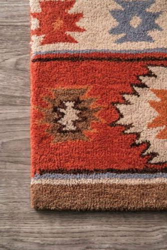 nuLOOM Wool Rug Burnt