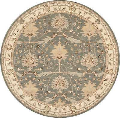 Nourison India House Traditional 8' X 8' Round Area Rugs In