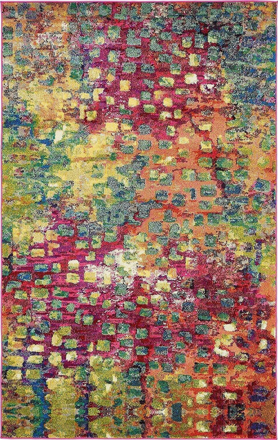 jardin collection colorful abstract multi area rug