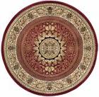 jayden traditional oriental red round area rug