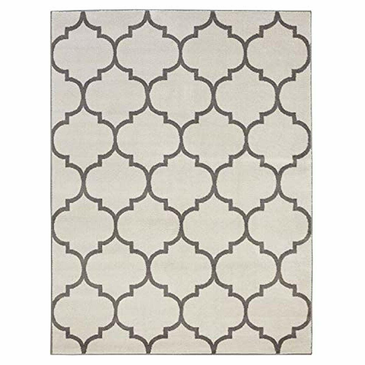 king collection moroccan trellis design area rug