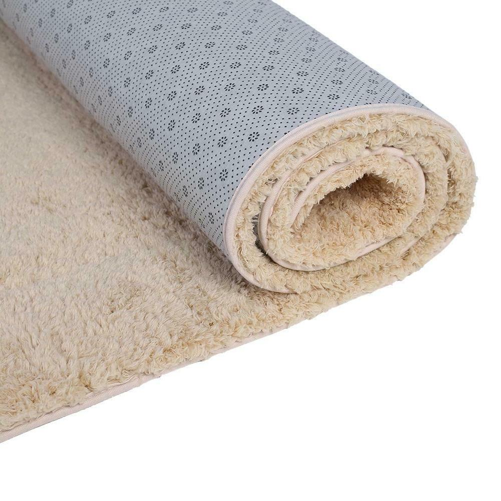 Large Anti-Skid Shaggy Rug Dining Room Bedroom Mat