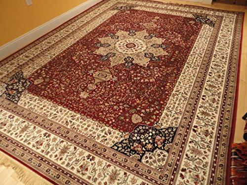 Luxury Red High Dense Silk Rugs Large Living Rooms Dining Room Rugs High End Persian