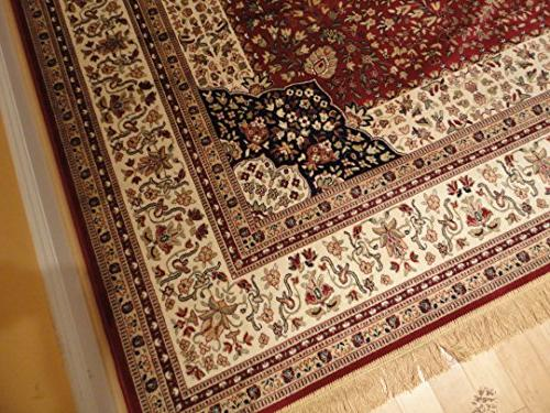Luxury Red Silk Traditional Large Area Rugs Living Rooms Rug Dining Room Rugs High End