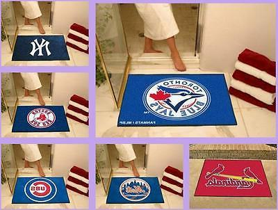 MLB Licensed All-Star Area Rug Floor Mat Carpet Man Cave - C