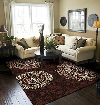 Modern Area Rug Brown Large Rugs For Living