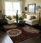 Modern Area Rug Brown Large Rugs For Living Room 8x10 Cleara