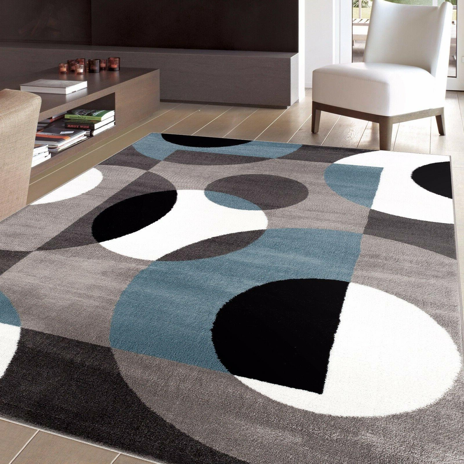 modern circles indoor soft area rugs