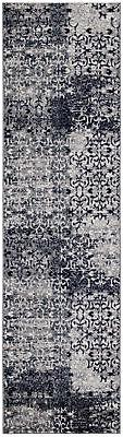 "Diagona Designs Modern Floral Design Runner Rug 31"" W x 118"""