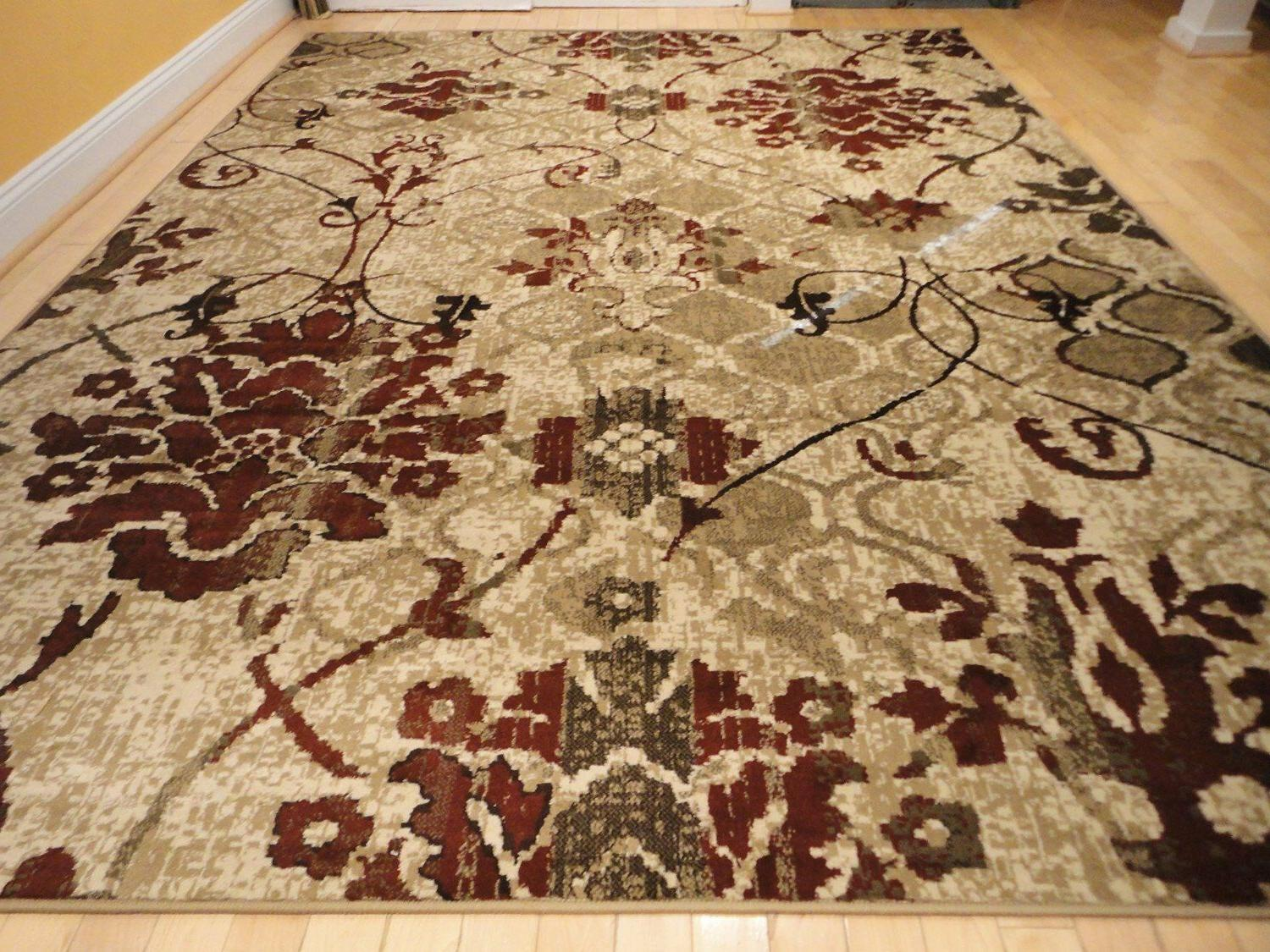 Modern Rug Rugs Burgundy Carpet Flower