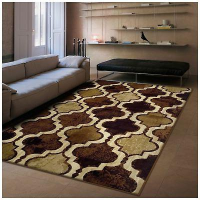 Superior Modern Viking Height Backing, Chic Textured Geometric Trellis Pattern, Anti-Static, Rugs - 5' x 8'