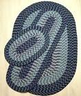 NAVY BLUE 3-PC. BRAIDED REVERSIBLE RUNNER ACCENT AREA RUG SE