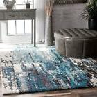 new contemporary modern abstract area rug in