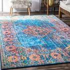 nuLOOM NEW Vibrant Traditional Vintage Area Rug in Blue, Ora
