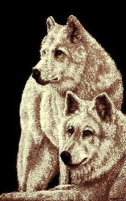 new wolf family area rug 5 x