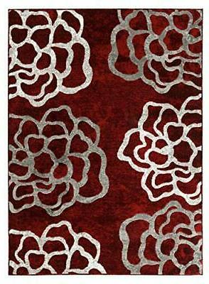 newport 71 red floral area rugs modern