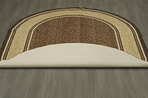 Ottomanson Ottohome Bordered Backing Modern 5' X Chocolate