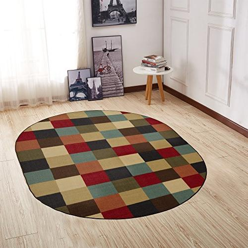 ottohome collection contemporary checkered non