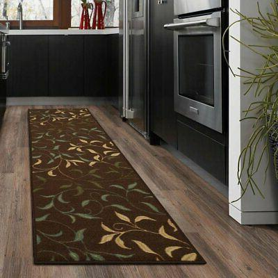 ottohome contemporary leaves design modern area rug