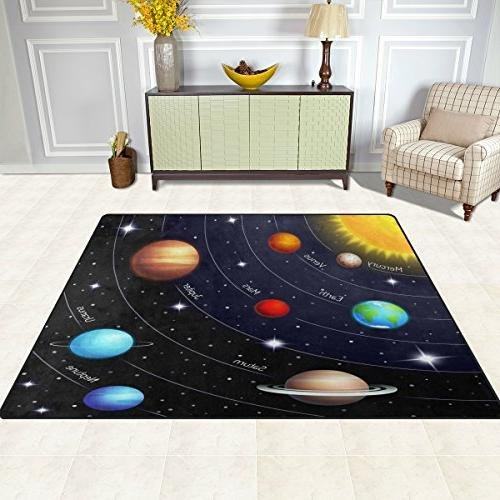 ALAZA Outer Solar System Area Rug for Living Bedroom 5'3 x