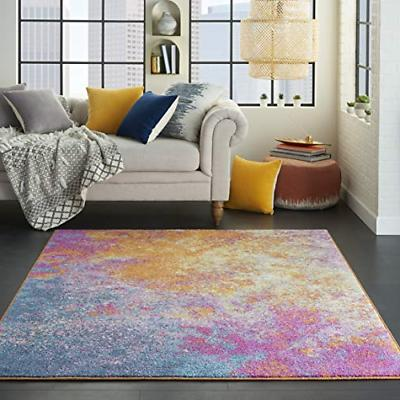Nourison Colorful Sunburst Area 5'3""