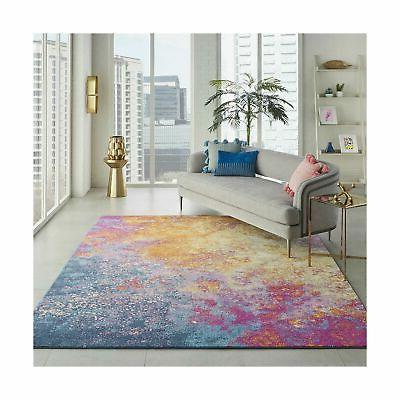nourison passion modern abstract colorful sunburst area