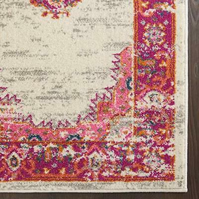 "Nourison Passion Colorful Area 5'3""X7'3"" Ivory/Fushia"