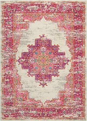 Nourison Passion Traditional Bright Colorful Rug, Ivory/Fushia