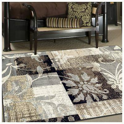 Superior Pastiche Collection Rug, 8mm Pile with Jute Chic Geometric Patchwork Design, Fashionable and Rugs - 10' Rug