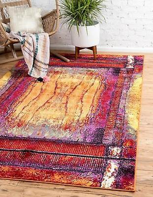 Persian Style Oriental Multi Color Abstract Pattern Area Car