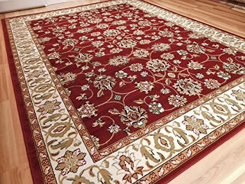 persian traditional burgandy red cream