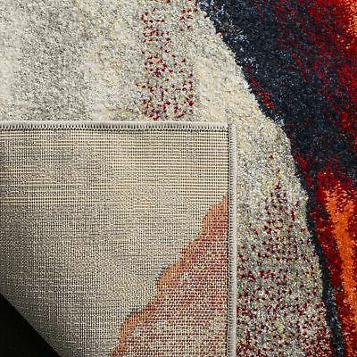 Safavieh Modern Abstract Grey/ Red Area Rug -