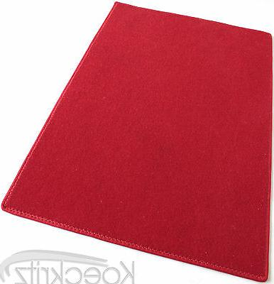 Red Indoor Outdoor Area Rug Carpet with Marine Backing Porch
