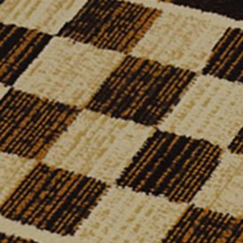 "Home Accent Style Rug | Geometric Pattern Checkerboard Design Beige 19.6"" x 31.5"""