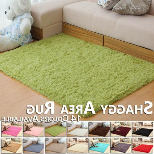 Soft Fluffy Rugs Large Shaggy Area Rug Living Room Bedroom C