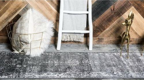 Unique Loom Runner x 13' Gray GORGEOUS Rustic 57% Off Retail!