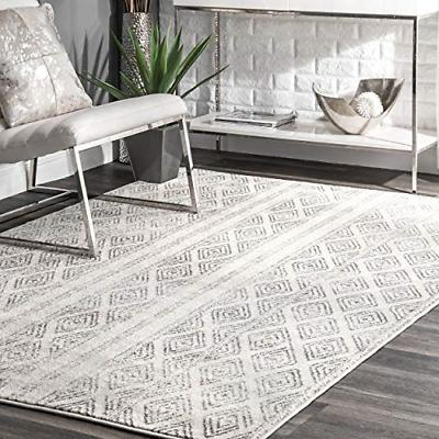 "nuLOOM RZBD40A Sarina Diamonds Area Rug, 5' x 7' 5"", Grey"
