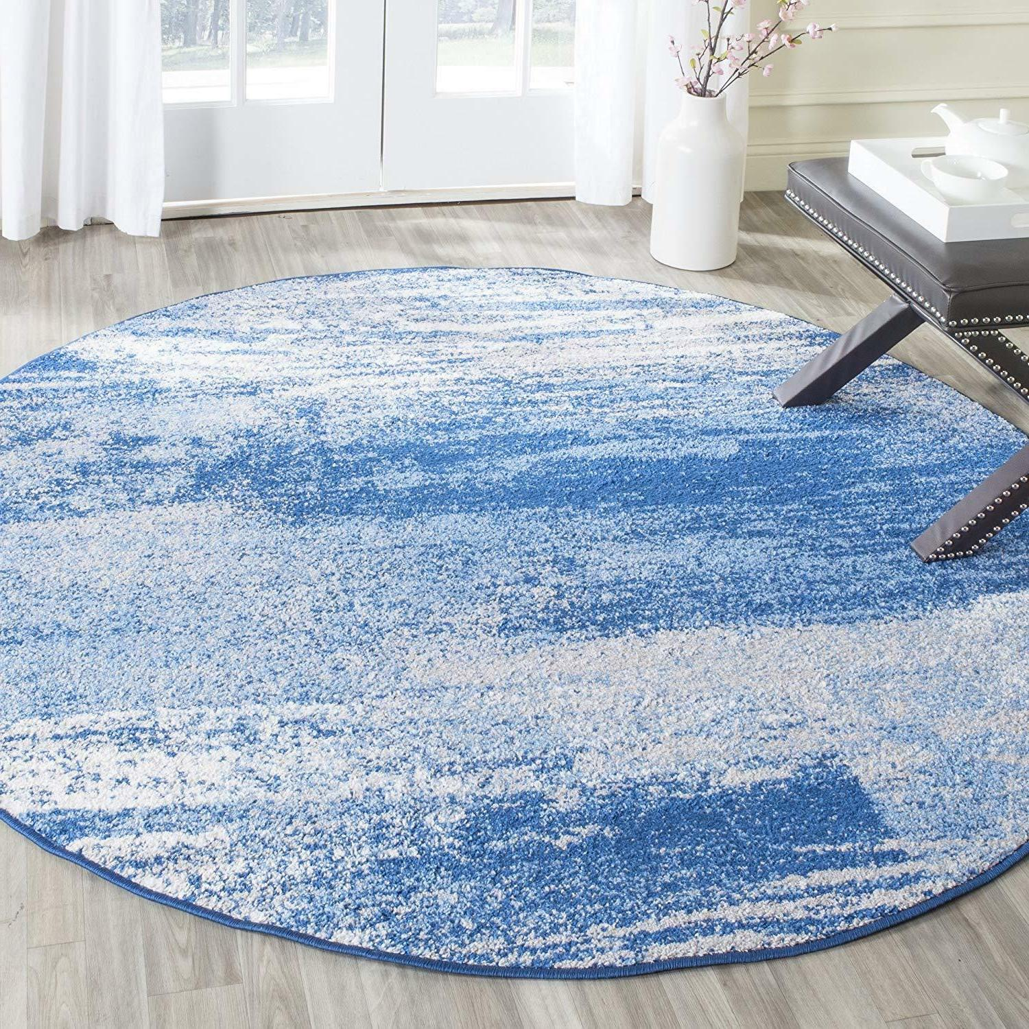 Safavieh Collection Silver and Modern Abstract Rug