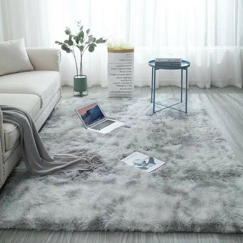 Large Floor Soft Fluffy Area Rug Mat Shaggy for Living Room